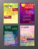 Διανυσματικά πρότυπα σχεδιαγράμματος σχεδίου ιπτάμενων φυλλάδιων Περίληψη ελεύθερη απεικόνιση δικαιώματος