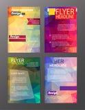 Διανυσματικά πρότυπα σχεδιαγράμματος σχεδίου ιπτάμενων φυλλάδιων Περίληψη απεικόνιση αποθεμάτων