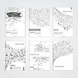Διανυσματικά πρότυπα σχεδίου κάλυψης φυλλάδιων με απεικόνιση αποθεμάτων