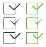 Διανυσματικά σημάδια ελέγχου ελεύθερη απεικόνιση δικαιώματος