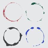 Διανυσματικά σημεία φλυτζανιών μελανιού στο χρώμα Στοκ Φωτογραφία