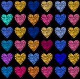 Διανυσματικά στοιχεία καρδιών έργου τέχνης Διανυσματική απεικόνιση