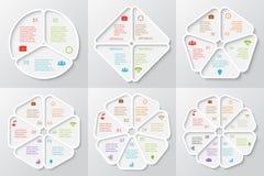 Διανυσματικά στοιχεία κύκλων που τίθενται για infographic ελεύθερη απεικόνιση δικαιώματος
