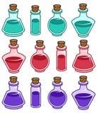 Διανυσματικά στοιχεία μπουκαλιών κινούμενων σχεδίων Στοκ Φωτογραφίες