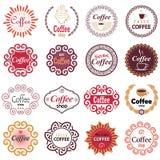 Διανυσματικά στοιχεία σχεδίου καφετεριών στο εκλεκτής ποιότητας ύφος διανυσματική απεικόνιση