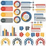 Διανυσματικά στοιχεία infographics βιομηχανικό σύνολο Στοκ Φωτογραφία