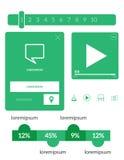 Διανυσματικά στοιχεία UI καθορισμένα Στοκ εικόνα με δικαίωμα ελεύθερης χρήσης