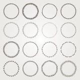 Διανυσματικά συρμένα χέρι στοιχεία λογότυπων και διακριτικών κύκλων καθορισμένα διανυσματική απεικόνιση