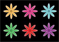 Διανυσματικά σχέδια υποβάθρου λουλουδιών στα διαφορετικά χρώματα ελεύθερη απεικόνιση δικαιώματος