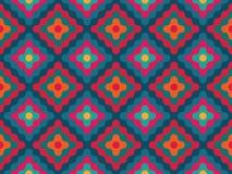 Διανυσματικά σύγχρονα άνευ ραφής ζωηρόχρωμα διαμάντια σχεδίων γεωμετρίας Στοκ Φωτογραφία