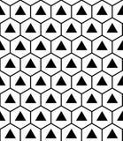 Διανυσματικά σύγχρονα άνευ ραφής ιερά hexagon τρίγωνα σχεδίων γεωμετρίας, γραπτή περίληψη απεικόνιση αποθεμάτων