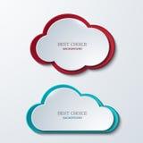 Διανυσματικά σύγχρονα εμβλήματα σύννεφων καθορισμένα Στοκ Εικόνες