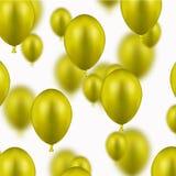 Διανυσματικά σύγχρονα κίτρινα μπαλόνια στο λευκό ελεύθερη απεικόνιση δικαιώματος