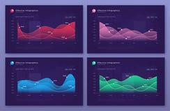 Διανυσματικά σύγχρονα infographic υπόβαθρα με τα διαγράμματα στατιστικής απεικόνιση αποθεμάτων