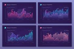 Διανυσματικά σύγχρονα infographic υπόβαθρα με τα διαγράμματα στατιστικής ελεύθερη απεικόνιση δικαιώματος