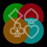 Διανυσματικά σύμβολα καρτών παιχνιδιού ελεύθερη απεικόνιση δικαιώματος