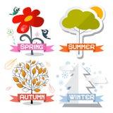 Διανυσματικά σύμβολα του Four Seasons Στοκ εικόνα με δικαίωμα ελεύθερης χρήσης