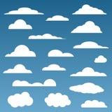 Διανυσματικά σύννεφα καθορισμένα Στοκ φωτογραφία με δικαίωμα ελεύθερης χρήσης