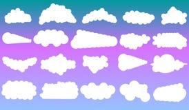 Διανυσματικά σύννεφα Στοκ Φωτογραφίες