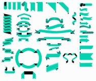 Διανυσματικά σύνολα 01 συλλογής κορδελλών μεγάλα Στοκ φωτογραφία με δικαίωμα ελεύθερης χρήσης