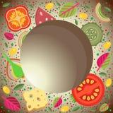 Διανυσματικά τετραγωνικά χρωματισμένα τρόφιμα υποβάθρου Στοκ φωτογραφία με δικαίωμα ελεύθερης χρήσης