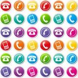 Διανυσματικά τηλεφωνικά εικονίδια ελεύθερη απεικόνιση δικαιώματος