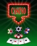 Διανυσματικά τσιπ πόκερ χαρτοπαικτικών λεσχών, πρότυπο για τα υπόβαθρα σχεδίου, πρότυπο για τις κάρτες και τα εμβλήματα απεικόνισ Στοκ Εικόνα