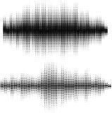 Διανυσματικά υγιή κύματα καθορισμένα Ακουστική τεχνολογία εξισωτών, σφυγμός μουσικός Διανυσματική απεικόνιση του σχεδίου και της  διανυσματική απεικόνιση