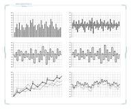 Διανυσματικά φουτουριστικά στοιχεία infographics HUD καθορισμένα Στοκ Εικόνες