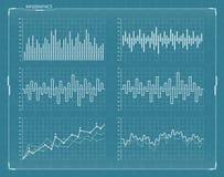 Διανυσματικά φουτουριστικά στοιχεία infographics HUD καθορισμένα Στοκ φωτογραφίες με δικαίωμα ελεύθερης χρήσης