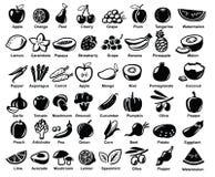 Διανυσματικά φρούτα και λαχανικά διανυσματική απεικόνιση