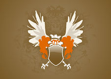 διανυσματικά φτερά ασπίδων Στοκ εικόνα με δικαίωμα ελεύθερης χρήσης