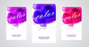 Διανυσματικά φωτεινά εμβλήματα watercolor Στοκ Φωτογραφίες