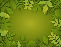 Διανυσματικά φύλλα περικοπών εγγράφου καλοκαίρι εμβλημάτων τρο ελεύθερη απεικόνιση δικαιώματος