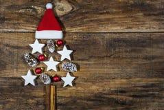 διανυσματικά Χριστούγεννα δέντρων απεικόνισης Στοκ Εικόνα