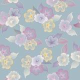 Διανυσματικά floral άνευ ραφής όμορφα λουλούδια προτύπων Στοκ Φωτογραφίες