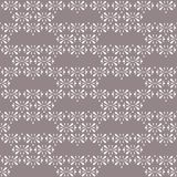Διανυσματικά Floral τρίγωνα στο καφετί άνευ ραφής υπόβαθρο σχεδίων κακάου διανυσματική απεικόνιση