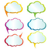 Διανυσματικά infographic σύννεφα απεικόνισης στοιχείων σχεδίου ελεύθερη απεικόνιση δικαιώματος