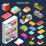 Διανυσματικά isometric βιβλία διανυσματική απεικόνιση