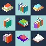 Διανυσματικά isometric βιβλία απεικόνιση αποθεμάτων