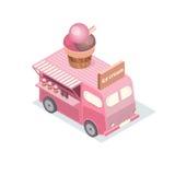 Διανυσματικά isometric φορτηγά τροφίμων Στοκ Εικόνες