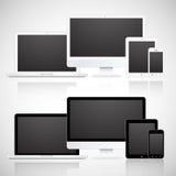 Διανυσματικά lap-top, ταμπλέτα, όργανο ελέγχου και τηλέφωνο Στοκ φωτογραφίες με δικαίωμα ελεύθερης χρήσης