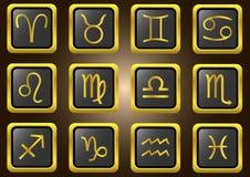 Διανυσματικά zodiac σημάδια Απεικόνιση αποθεμάτων