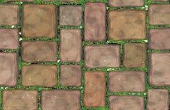 Διανυσματικές άνευ ραφής καφετιές πέτρες σύστασης Στοκ Εικόνα