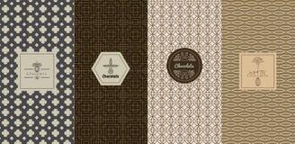 Διανυσματικές έννοιες σχεδίου λογότυπων και πρότυπα στο καθιερώνον τη μόδα γραμμικό ύφος διανυσματική απεικόνιση