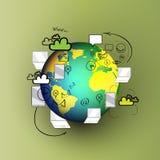 Διανυσματικές έννοιες σχεδίου Doodle για συνεργασία Στοκ εικόνες με δικαίωμα ελεύθερης χρήσης