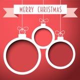 Διανυσματικές αναδρομικές σφαίρες Χριστουγέννων Στοκ Εικόνες