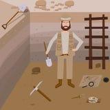 Διανυσματικές απεικονίσεις αρχαιολογίας Στοκ Εικόνα