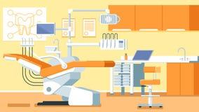 Διανυσματικές απεικονίσεις γραφείων οδοντιάτρων Στοκ Εικόνες