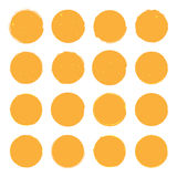 Διανυσματικές απεικονίσεις του διαφορετικού χρυσού grandee δέκα έξι γύρω από τις μορφές κατάλληλες για τα εικονίδια Στοκ Εικόνα